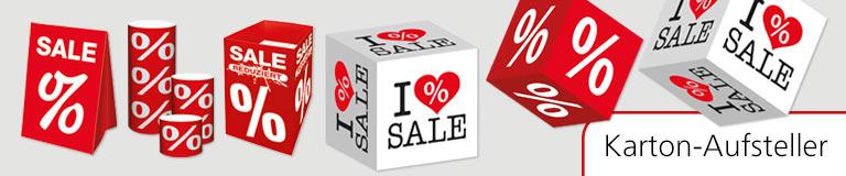 Karton Aufsteller Reduziert Sale Aktions Dekoration