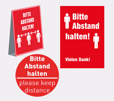Plakate Bitte Abstand