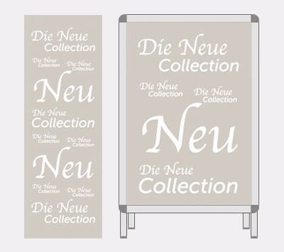 Plakat-Serie Die neue Collection