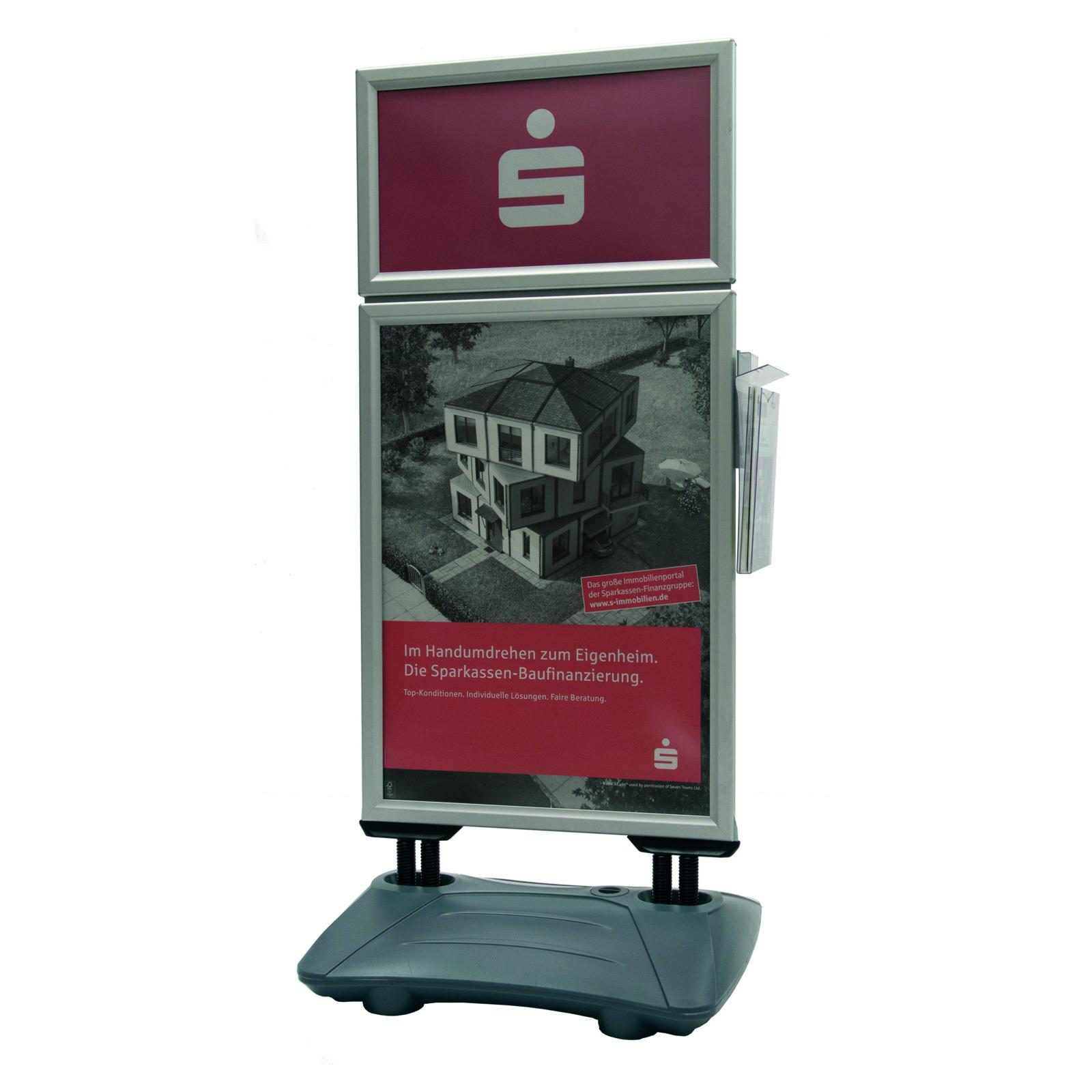 Windfester Werbeaufsteller WindPro Plus mit Top-Rahmen ...