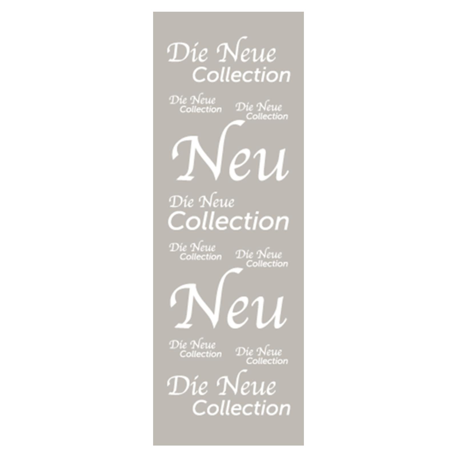 langbahn die neue collection plakate die neue kollektion. Black Bedroom Furniture Sets. Home Design Ideas