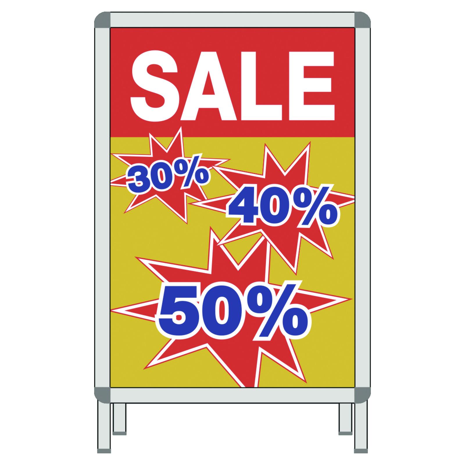 97c58d7b0f7b45 Plakat SALE 30% 40% 50% - Plakate DIN Format Räumungsverkauf   SALE ...