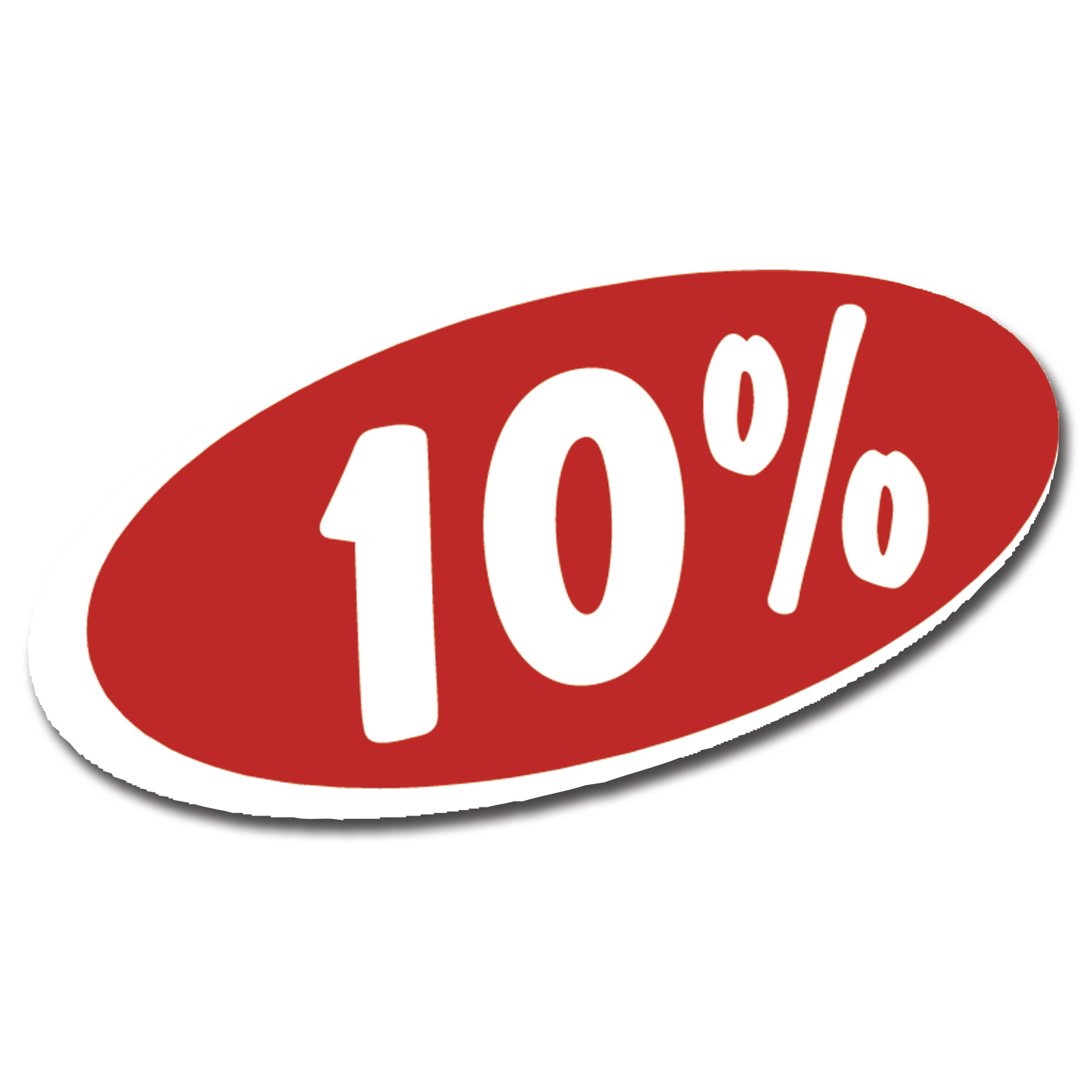 Rotes Oval Selbstkleb Ankleber Reduziert Sale