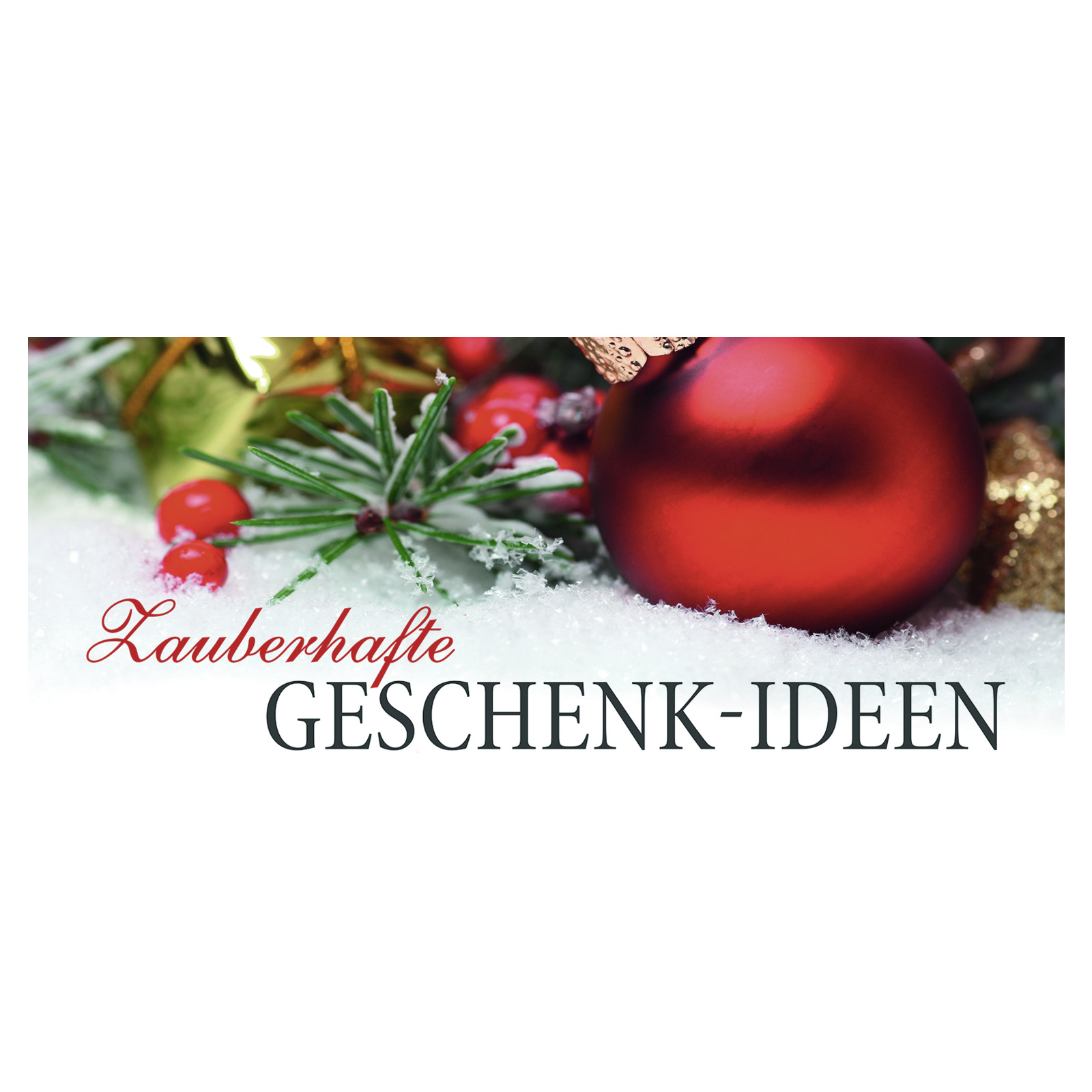 Plakatstreifen Zauberhafte Geschenk-Ideen 68x30 cm - Plakate ...