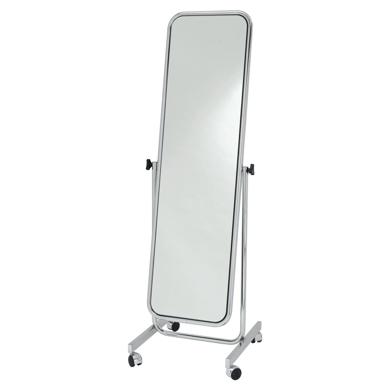 Rollspiegel basic 155x45 cm verchromt konfektionsspiegel umkleidekabinen ladeneinrichtung - Spiegel auf rollen ...