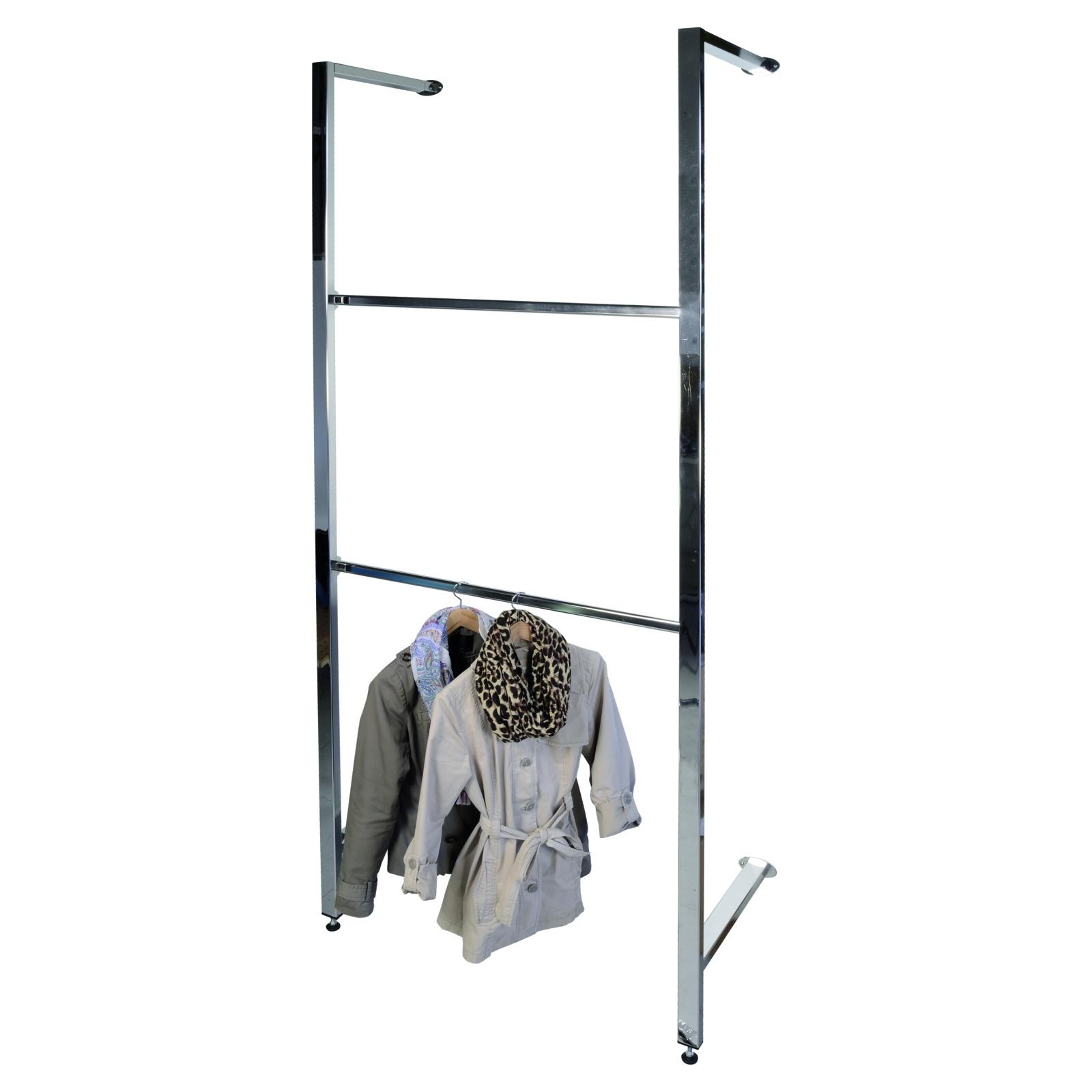 ladeneinrichtung easy back 100 cm breit mit zwei tragestang wandregal easy back. Black Bedroom Furniture Sets. Home Design Ideas