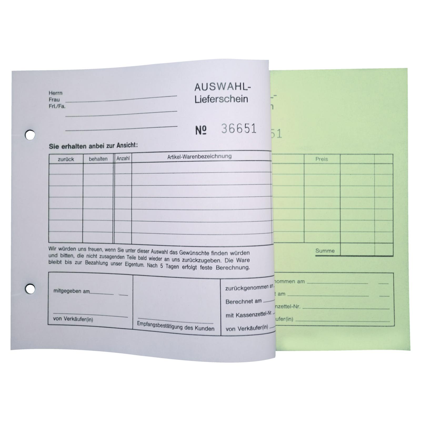 auswahl lieferscheine sd papier din a5 kassenbl cke formulare kassenbedarf ladenbedarf. Black Bedroom Furniture Sets. Home Design Ideas