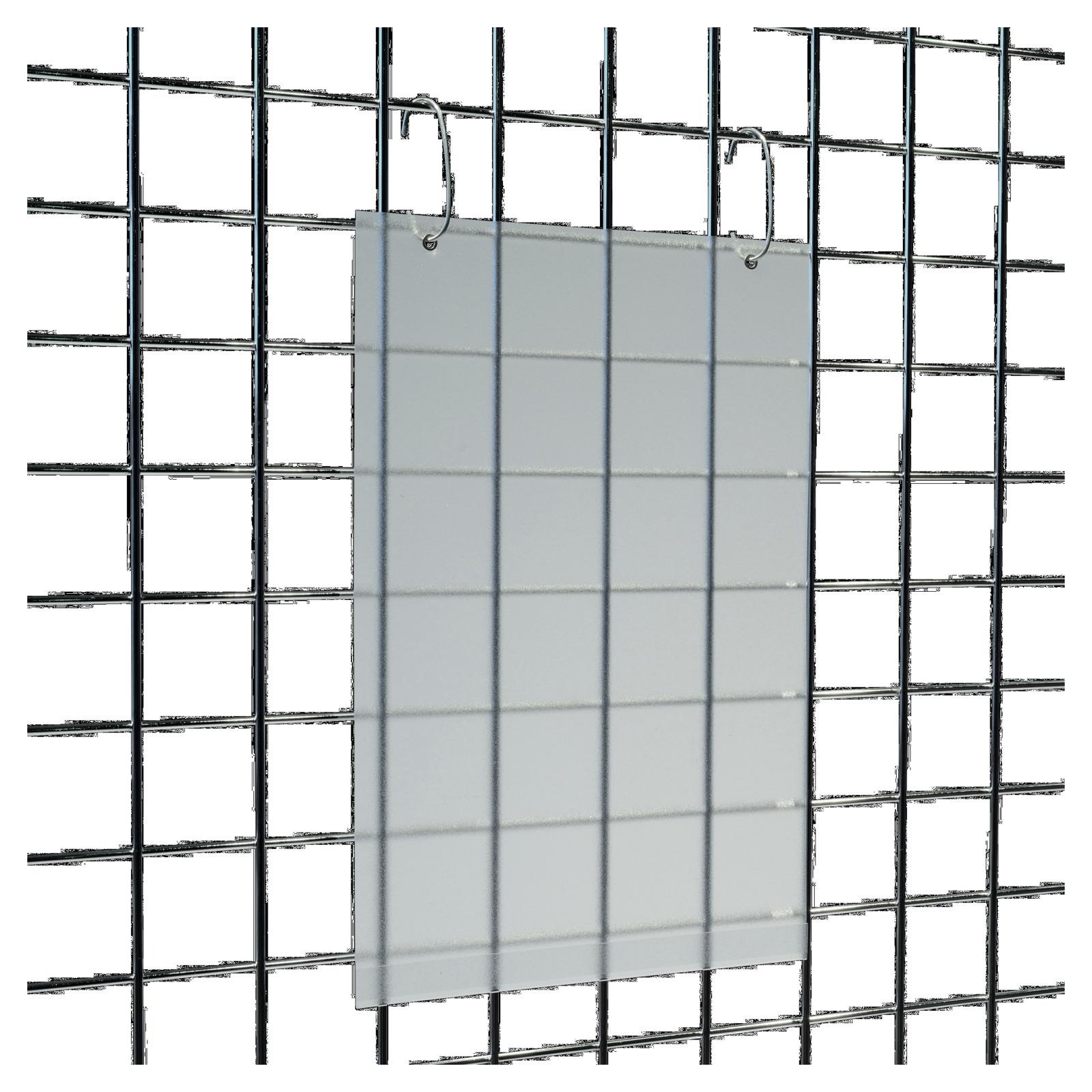 h nge plakattasche mit c haken din a4 gitterst nder verkaufsst nder. Black Bedroom Furniture Sets. Home Design Ideas