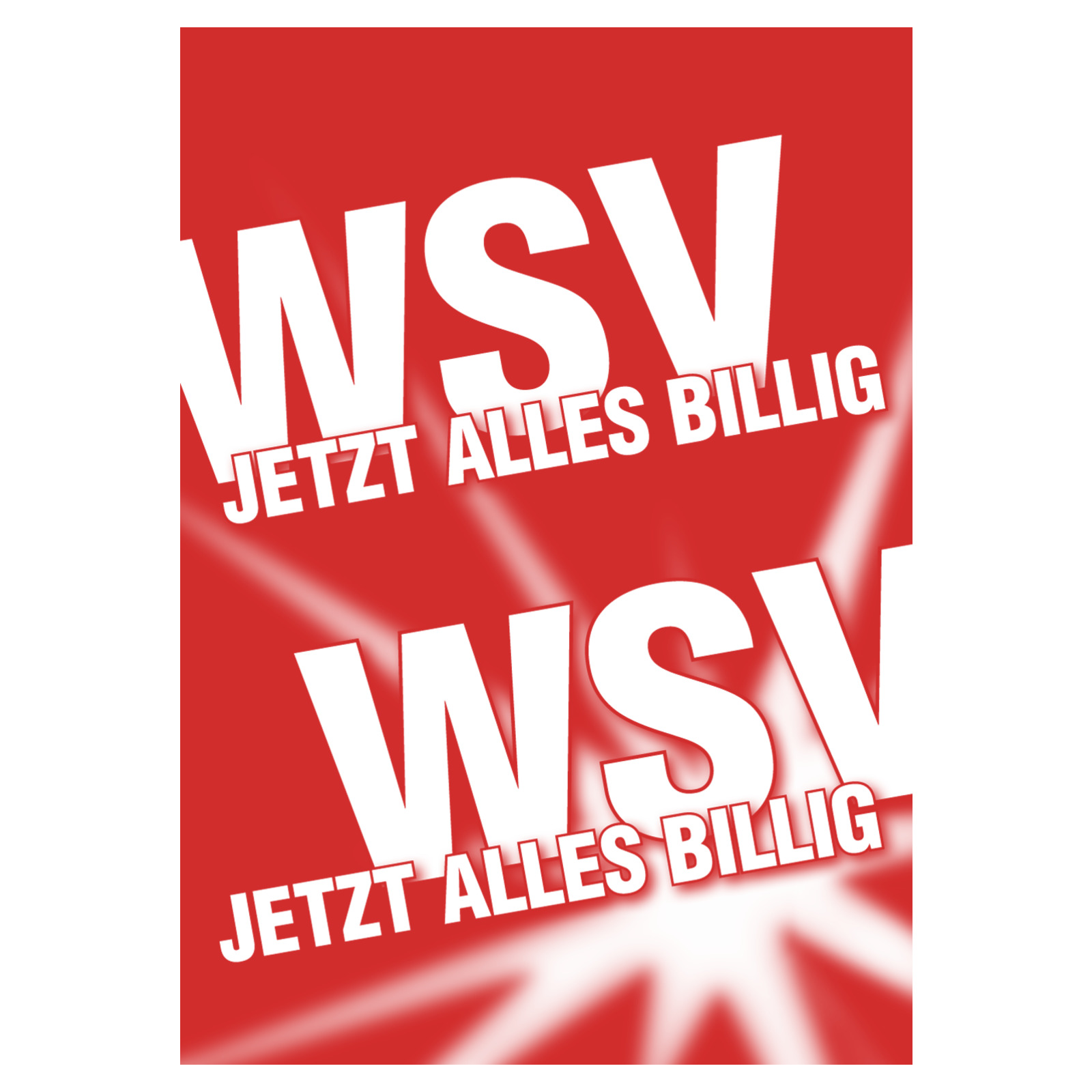 Plakat DIN A1 WSV Jetzt alles billig - Restposten Plakate Plakate ...