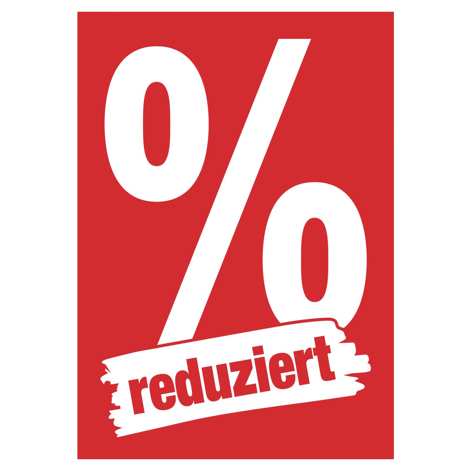 Plakat reduziert % DIN A1