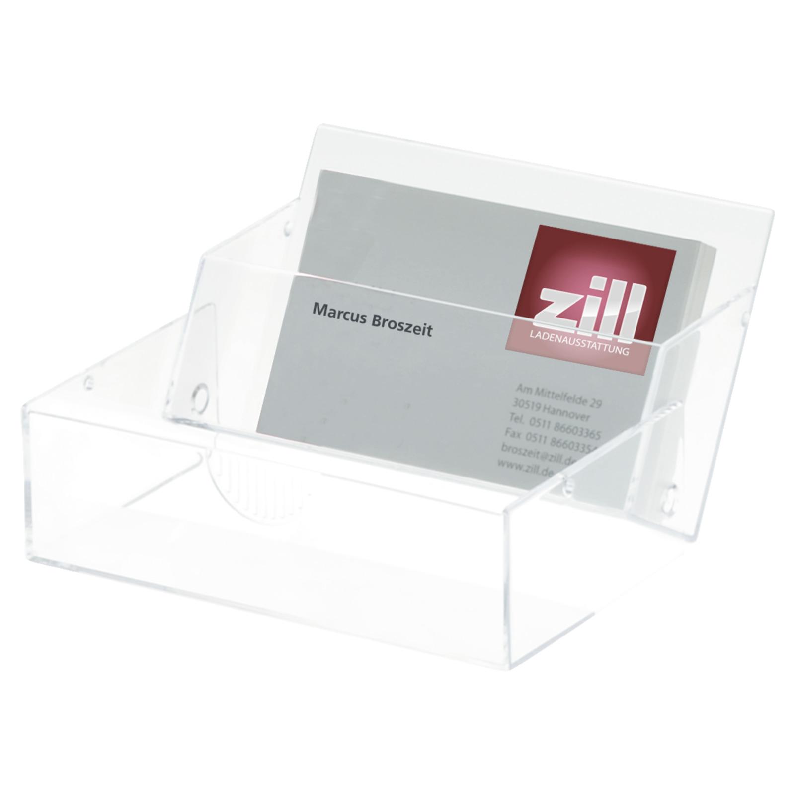 Visitenkarten Box Glasklar