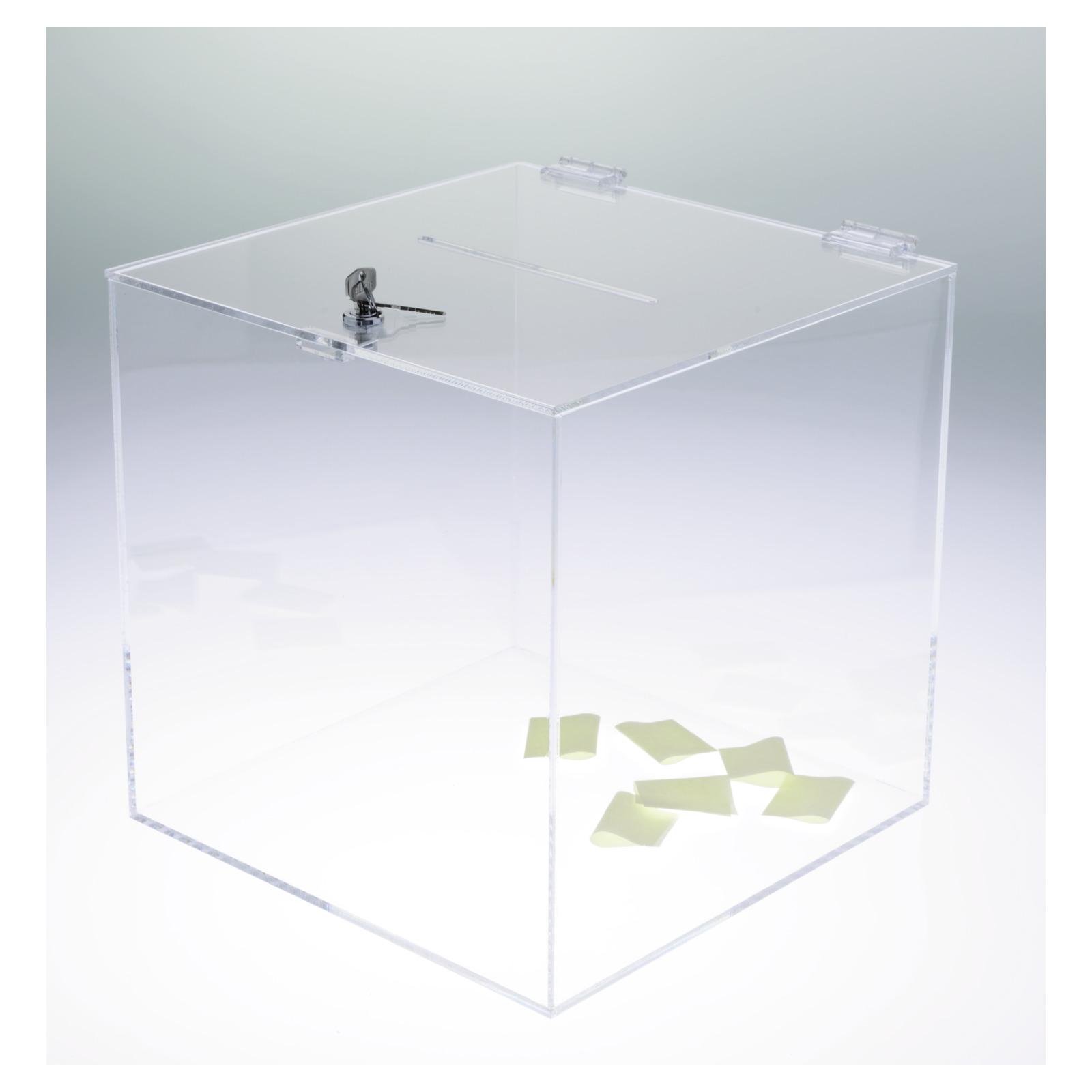 Losbox - Kartensammler mit Schloß - Los- und Visitenkartenhalter ...