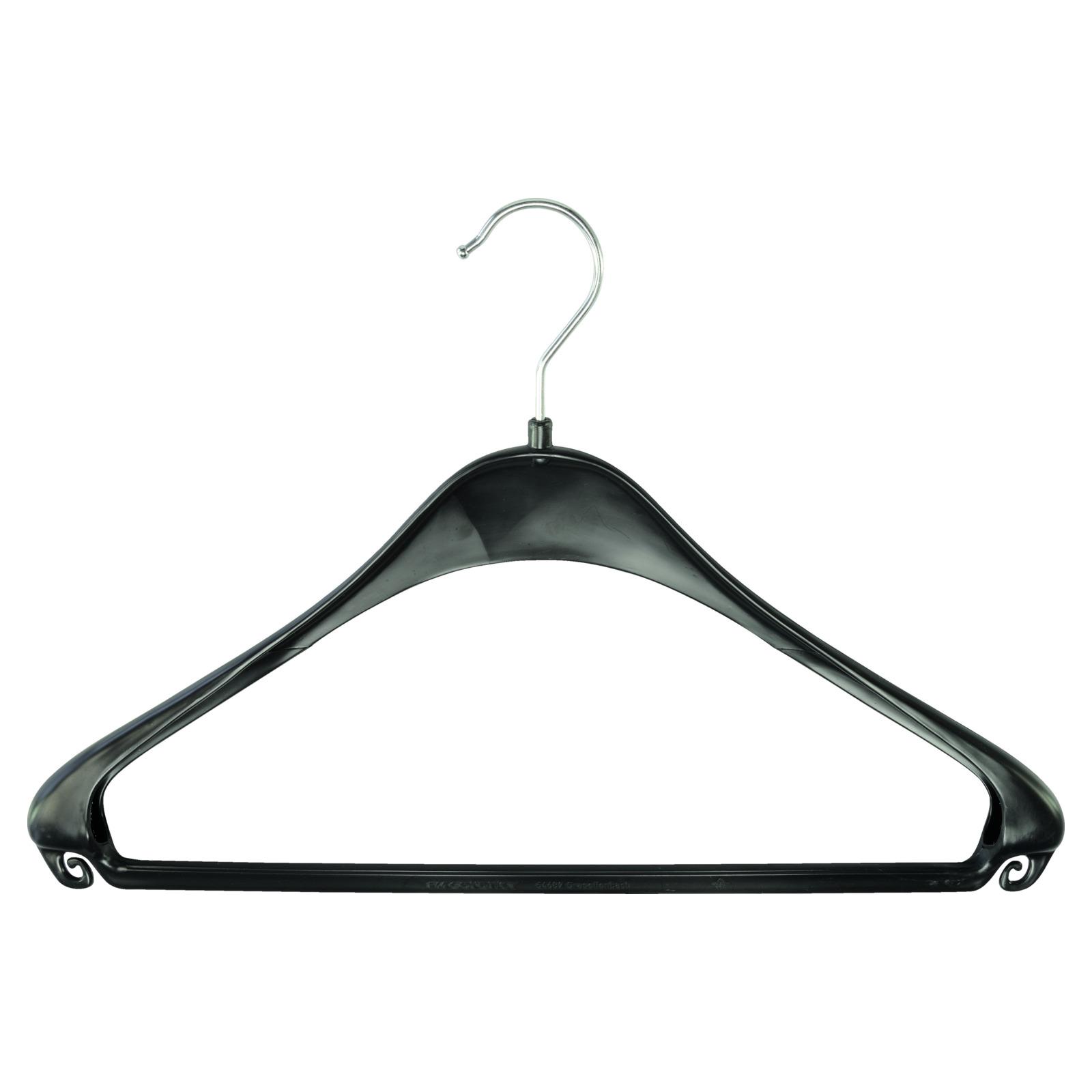 Kleiderbügel Kunststoff ohne Hosensteg Schwarz