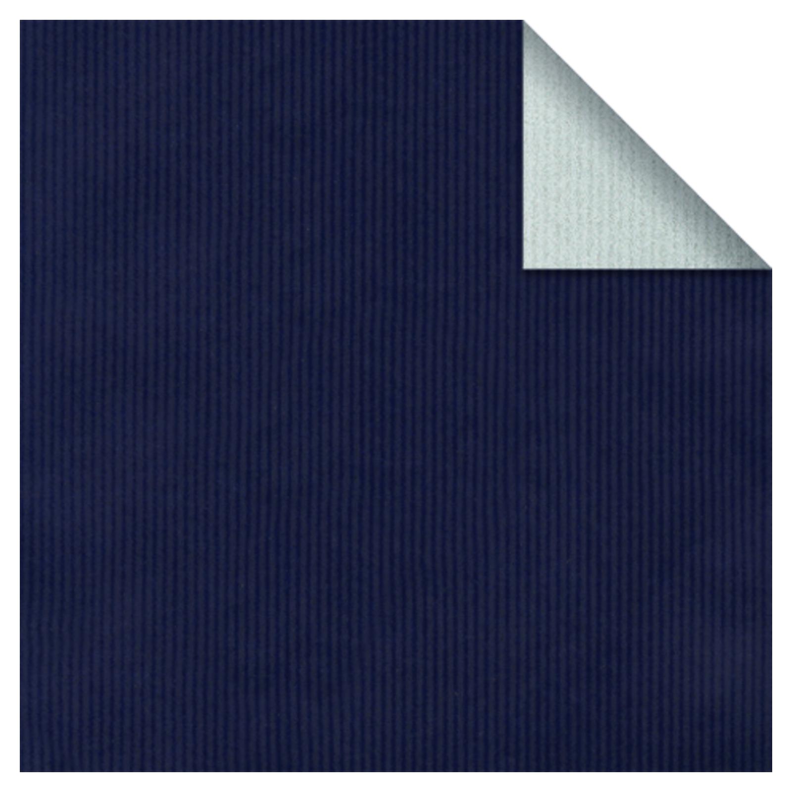 Geschenkpapier Bicolor Kraft braun gerippt silber/blau ...