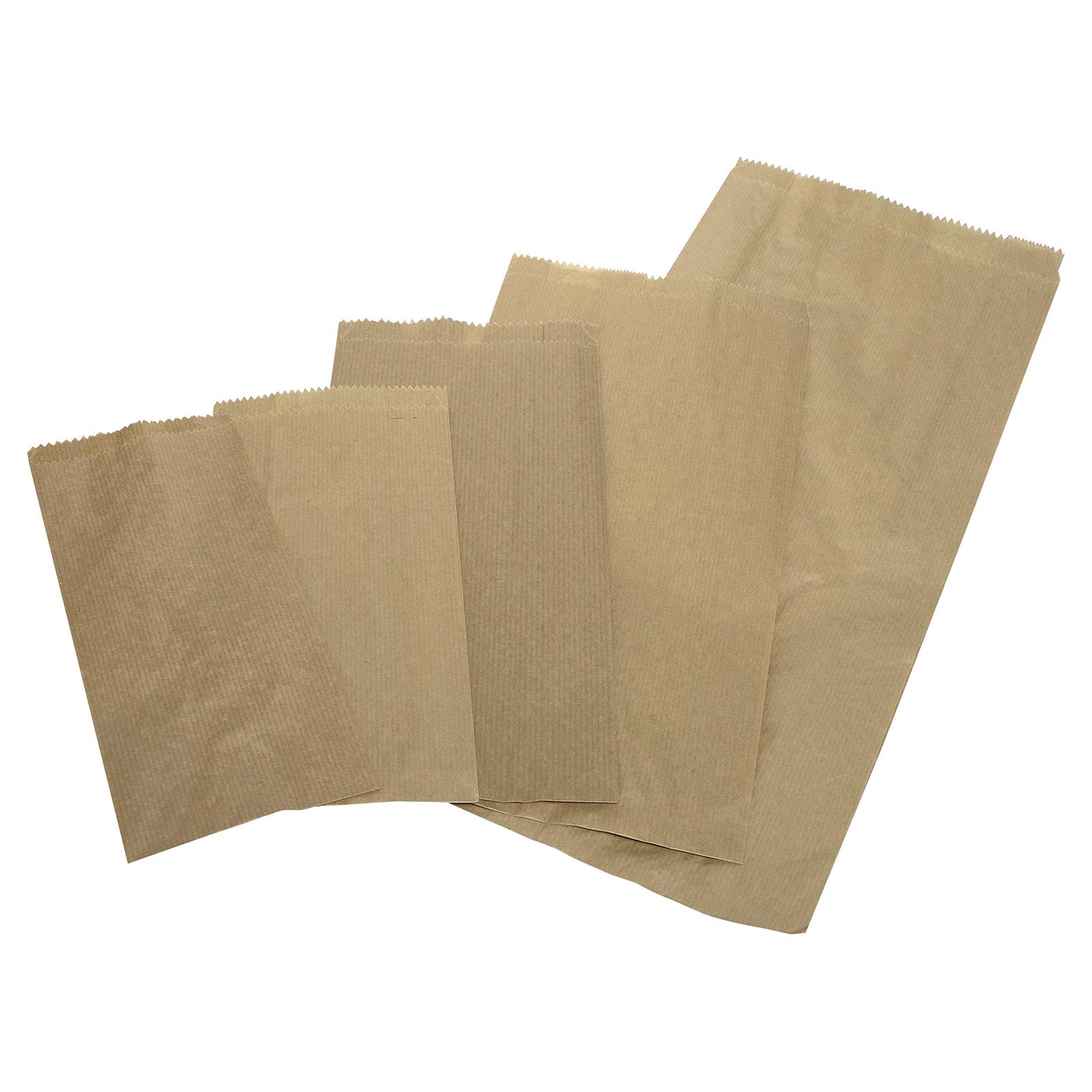 Flachbeutel braun Kraftpapier, VE 1000 Stück - Flachbeutel ...