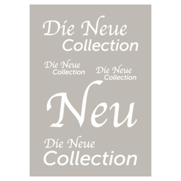 Plakat die neue Collection 60x85 cm