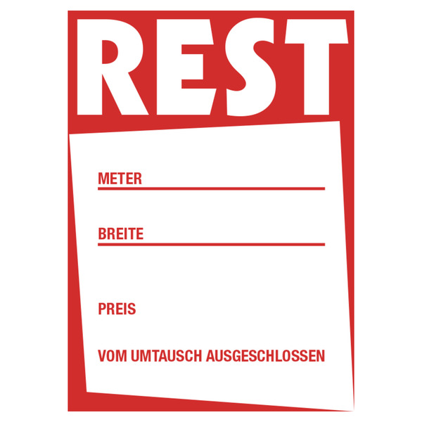 100 Klappschilder Rest