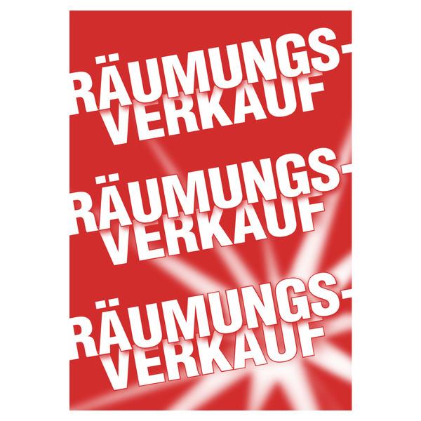 Plakat Stern R Umungsverkauf Plakate Reduziert Sale
