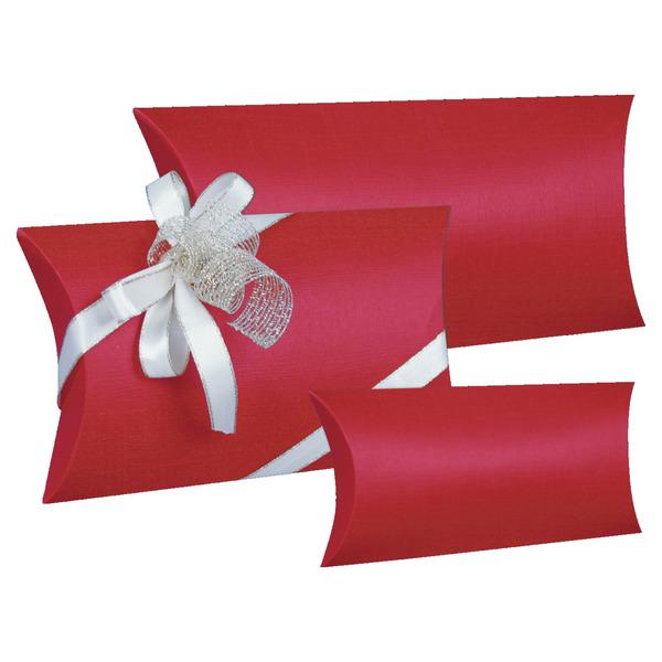 Geschenkkarton Weihnachten.Kissentaschen Leinen Rot