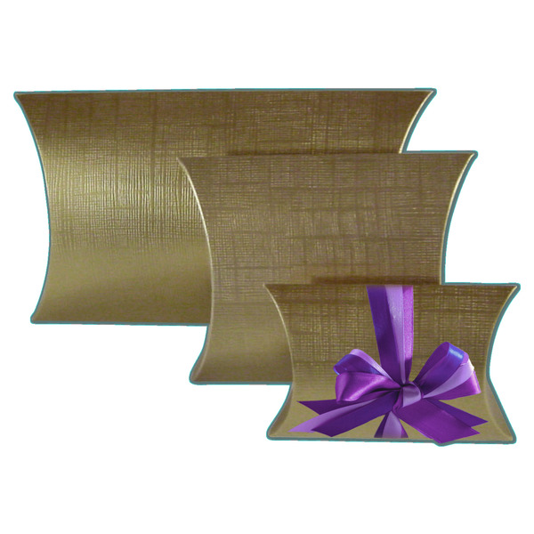 Geschenkkarton Weihnachten.Kissentaschen Leinen Gold